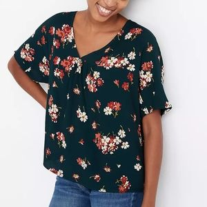 Madewell Rhyme Floral Top in Spruce Blooms